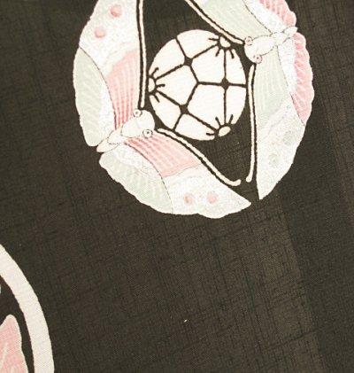 画像2: 新古紬黒色地名古屋帯*蝶紋(未仕立)