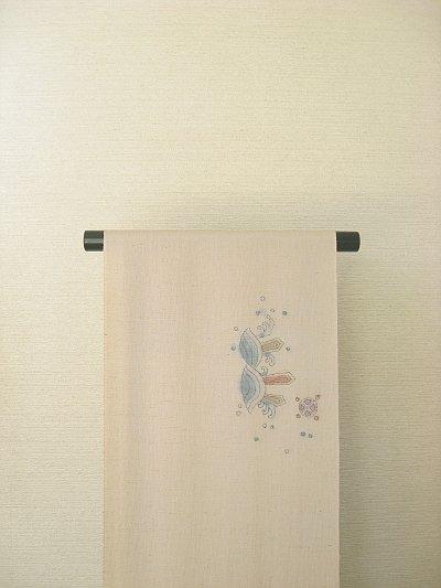 画像2: 野蚕糸浜紬香色地名古屋帯*龍(未仕立)
