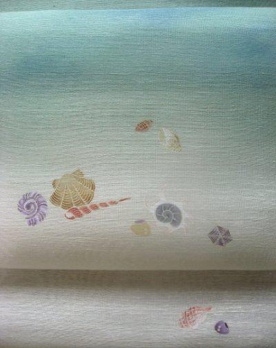 画像3: 丹後夏紬地名古屋帯*貝殻(未仕立)