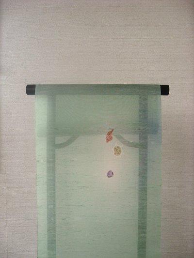 画像2: 丹後夏紬地名古屋帯*貝殻(未仕立)